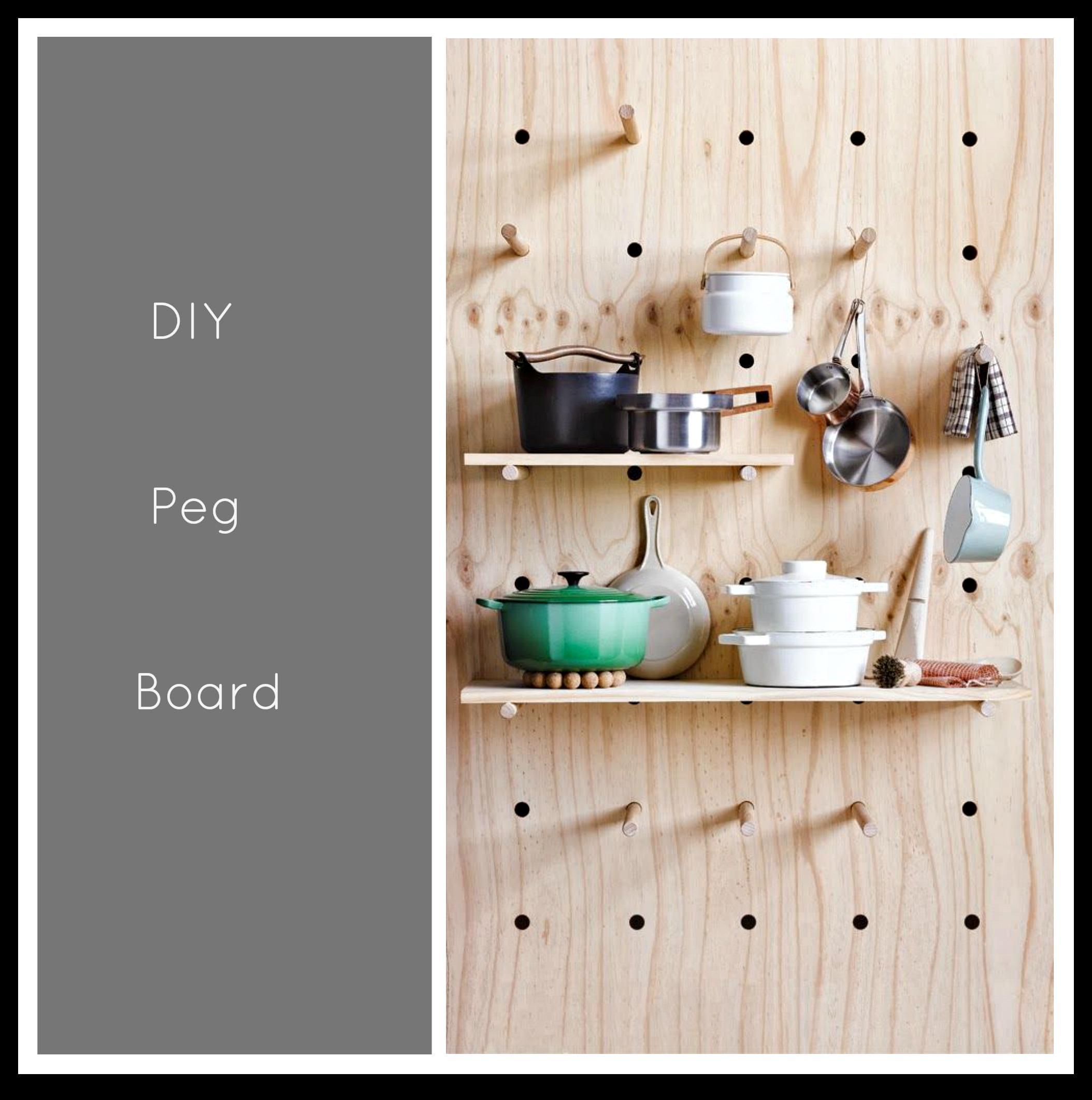 Peg Board Kitchen Storage Little Big Bell