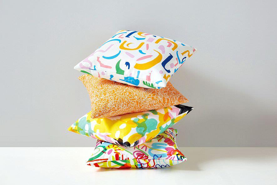 Kirkby-Design-and-Jon-Burgerman-cushions-featured-on-Little-Big-Bell