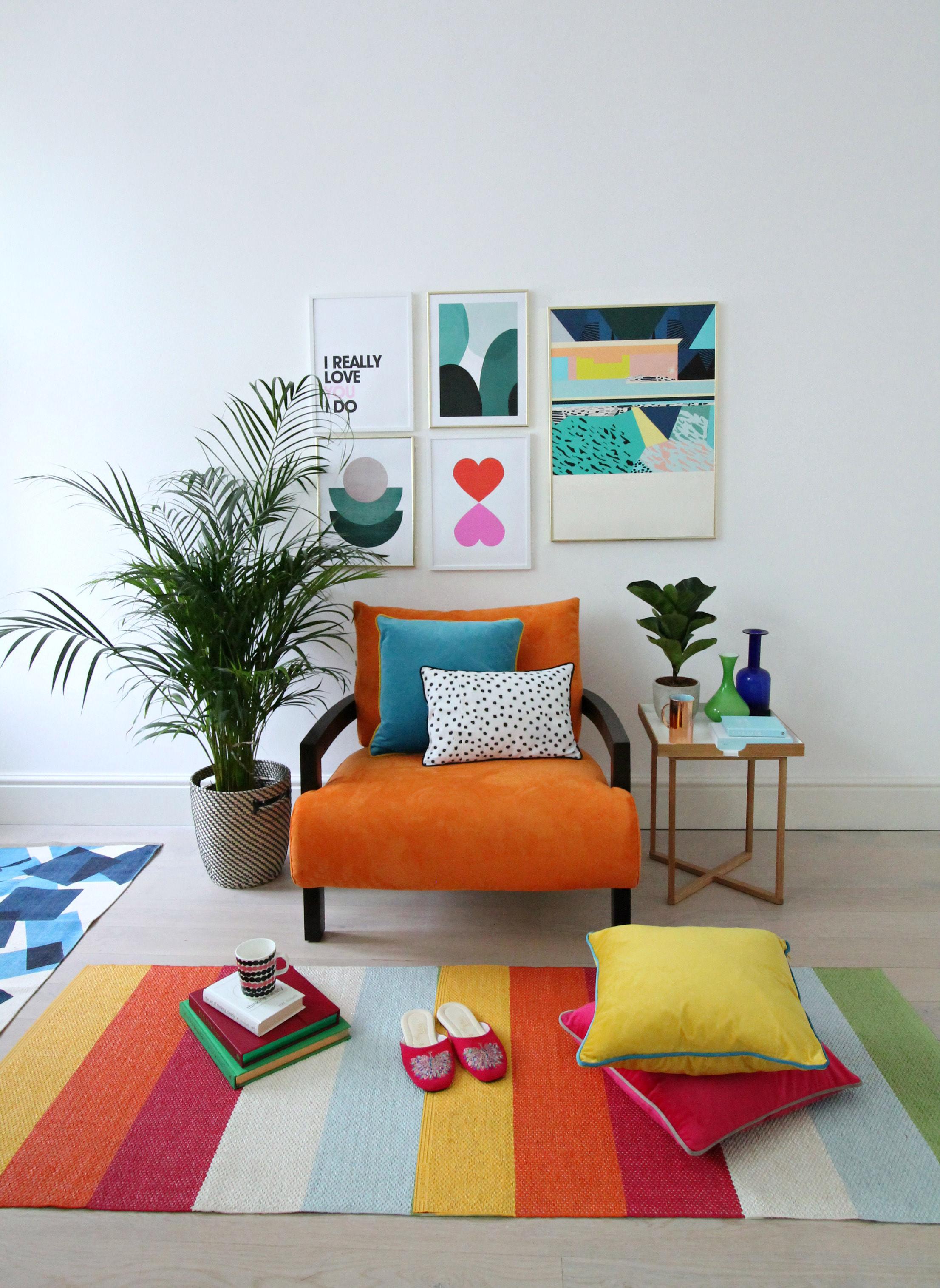 Littlebigbell orange sofa novita swing chair from for Furniture u village